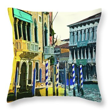 Throw Pillow featuring the photograph Ca'rezzonico Museum by Tom Cameron