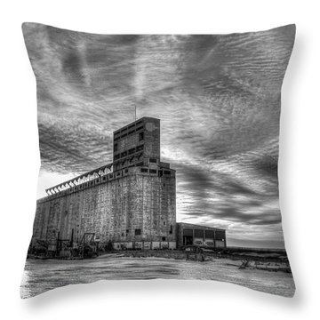 Cargill Sunset In B/w Throw Pillow