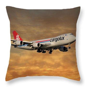 Cargolux Boeing 747-8r7 2 Throw Pillow