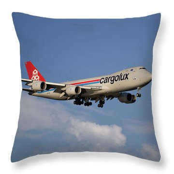 Cargolux Boeing 747-8r7 4 Throw Pillow
