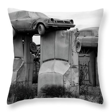 Carhenge Nebraska 19 Throw Pillow
