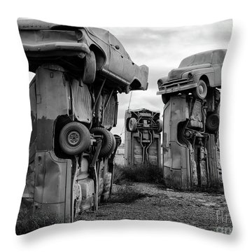Carhenge Nebraska 21 Throw Pillow
