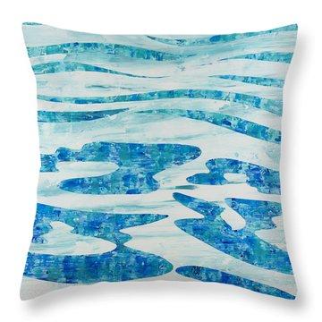 Caribbean Blue Throw Pillow by Sean Corcoran