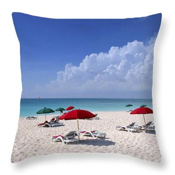 Caribbean Blue Throw Pillow by Stephen Anderson