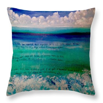 Caribbean Blue Words That Float On The Water  Throw Pillow