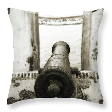 Caribbean Cannon Throw Pillow