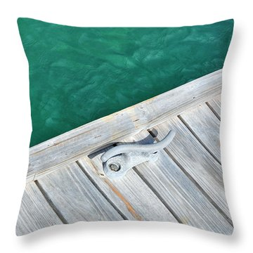 Caribbean Dock Throw Pillow