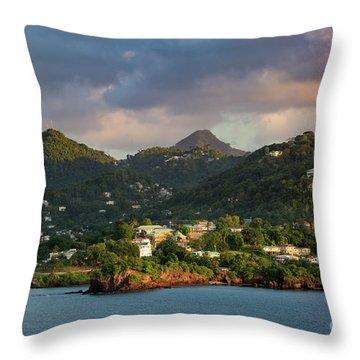 Caribbean Evening Throw Pillow