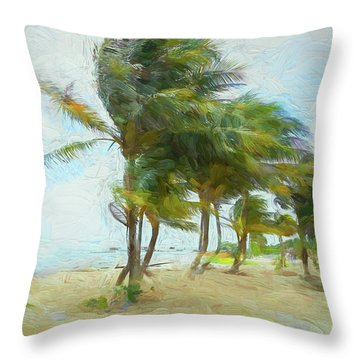 Caribbean Getaway Throw Pillow