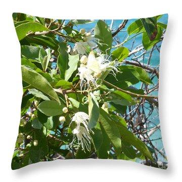 Caribbean Honeysuckle Throw Pillow by Margaret Brooks