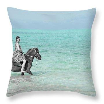 Caribbean Kindred Spirits Throw Pillow