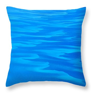 Caribbean Ocean Abstract Throw Pillow by Jetson Nguyen
