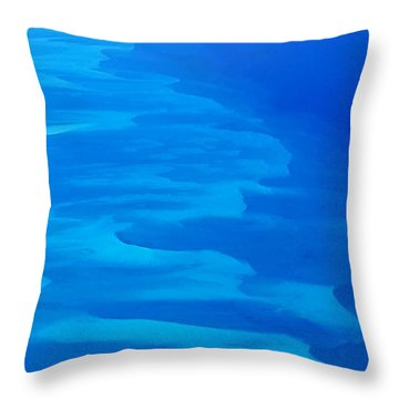 Throw Pillow featuring the photograph Caribbean Ocean Mosaic  by Jetson Nguyen