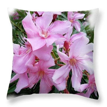 Throw Pillow featuring the photograph Caribbean Oleander by Marie Hicks