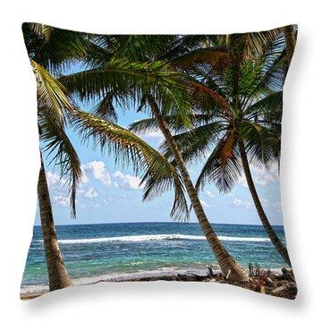 Caribbean Palms Throw Pillow