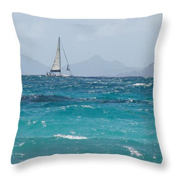 Throw Pillow featuring the photograph Caribbean Sailing by Margaret Bobb