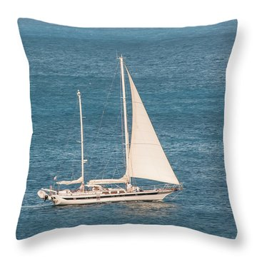 Throw Pillow featuring the photograph Caribbean Scooner by Gary Slawsky