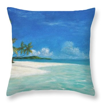 Caribbean Seclusion Throw Pillow