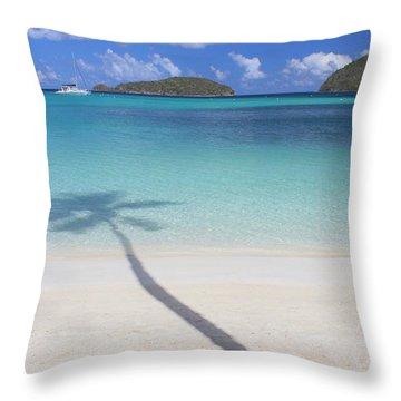 Caribbean Shadow Throw Pillow