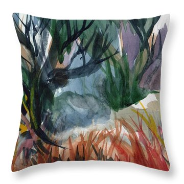 Caribbean Stroll Throw Pillow