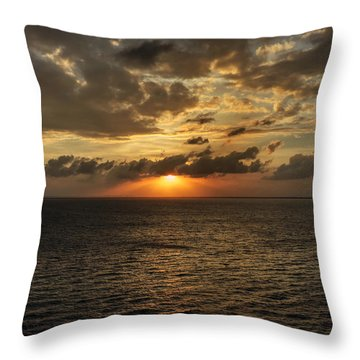 Throw Pillow featuring the photograph Caribbean Sunset 001 by Lance Vaughn