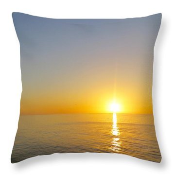 Caribbean Sunset Throw Pillow