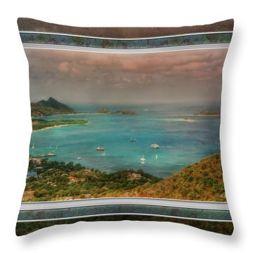 Throw Pillow featuring the digital art Caribbean Symphony by Hanny Heim