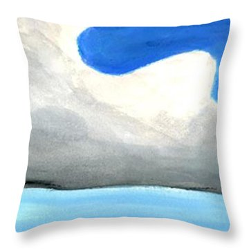Throw Pillow featuring the painting Caribbean Trade Winds by Dick Sauer