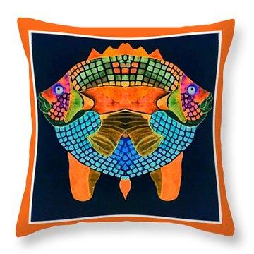 Caribean Fish Throw Pillow