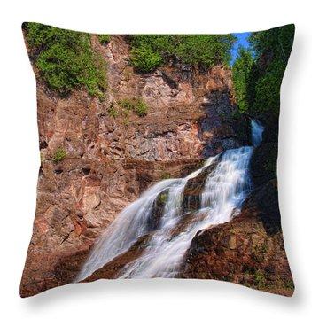 Caribou Falls Throw Pillow