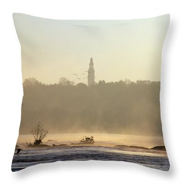Carillon Mist Throw Pillow by Kelvin Booker