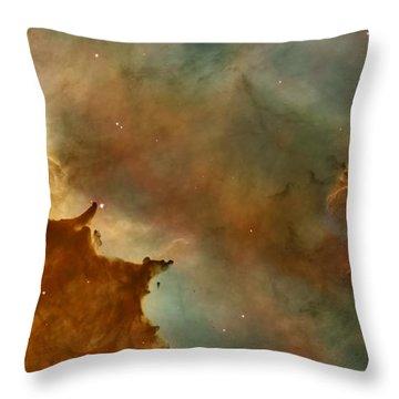 Carina Nebula Details -  Great Clouds Throw Pillow