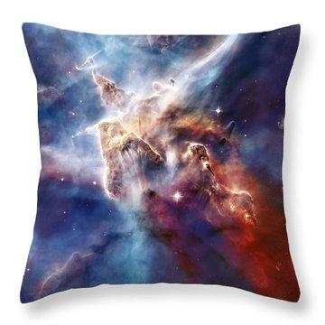 Carina Nebula Pillar Throw Pillow