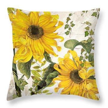 Carina Sunflowers Throw Pillow