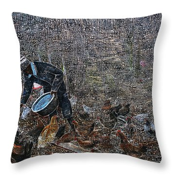 Caring For A Profit Throw Pillow