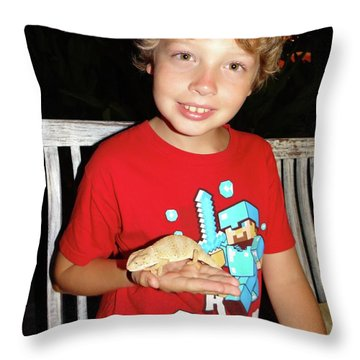 Caring For Chameleons 1 Throw Pillow