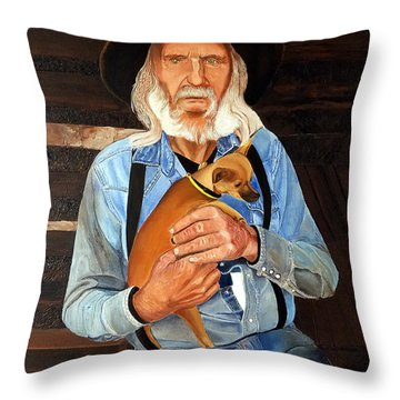 Caring Paws Throw Pillow