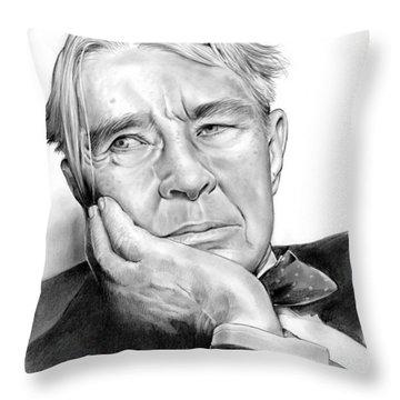 Carl Sandberg Throw Pillow by Greg Joens