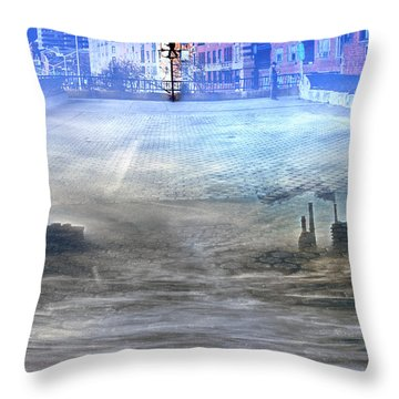 Throw Pillow featuring the photograph Carl Schurz Park Collage by Dave Beckerman