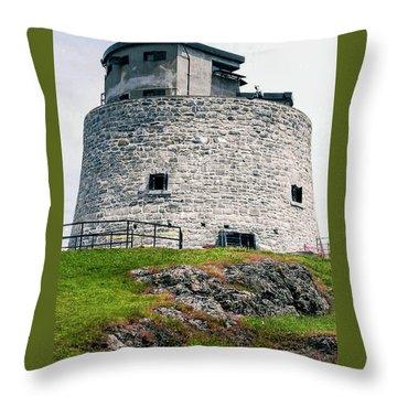Carleton Martello Tower Throw Pillow