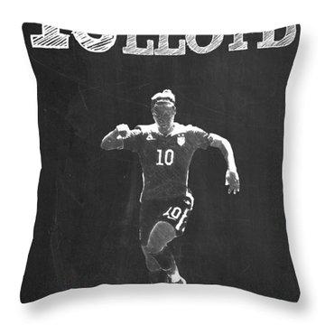 Carli Lloyd Throw Pillow by Semih Yurdabak