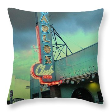 Carlos Club Throw Pillow by Kathleen Grace