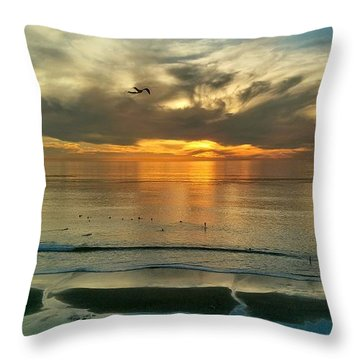 Carlsbad Beach  Throw Pillow