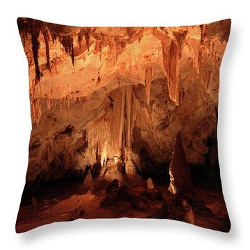 Throw Pillow featuring the photograph Carlsbad Caverns 2 by Marie Leslie