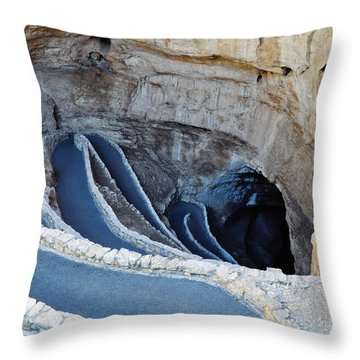 Carlsbad Caverns Natural Entrance Throw Pillow