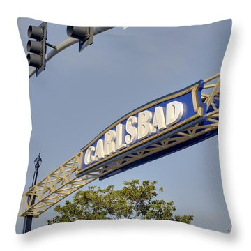 Carlsbad In Bold Throw Pillow