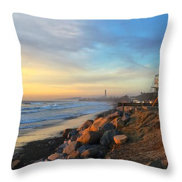 Carlsbad Winter Throw Pillow by Jan Cipolla