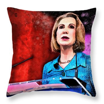 Carly Fiorina Throw Pillow