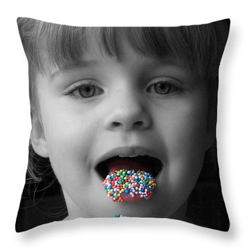 Carly With Hundreds And Thousands Throw Pillow