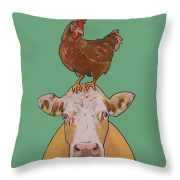Carlyle The Cow Throw Pillow
